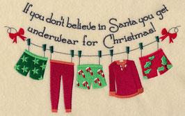 Believe in Santa Clothesline - His