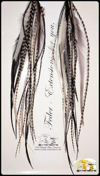 Feder - Ohrringe in Schwarz & Weiß