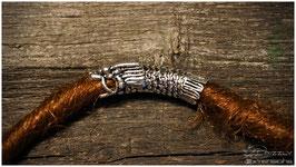 Dreadschmuck Silberantikoptik (Drachenkopf)