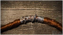 Dreadschmuck Silberantikoptik (Schlange)