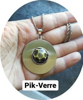 Médaillon avec petite perle pression 16/18mm