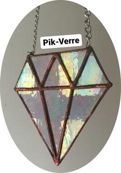 Vitrail diamant iridescent