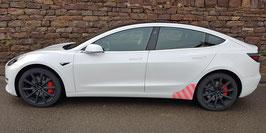 Transparentes Schutzfolienset für das Tesla Model 3 (hinterer Seitenschweller)