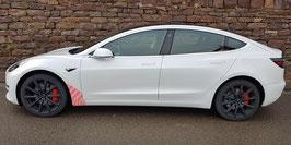 Transparentes Schutzfolienset für das Tesla Model 3 (vorderer Seitenschweller & Kotflügel)