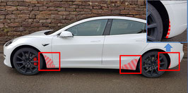 !!! DER RUNDUMSCHUTZ !!! Transparentes Schutzfolienset mit gratis Rakel für das Tesla Model 3 (vorderer & hinterer Seitenschweller + Kotflügel vorne + hinterer Stoßfänger)