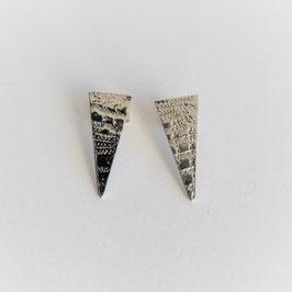 Boucles d'oreilles Triangles - Dentelle - Argent