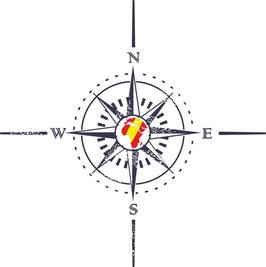 Rosa de Vientos 10 con puntos cardinales