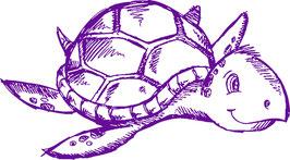 Tortuga marina a trazos