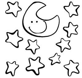 Luna y estrellas. Vinilo 36