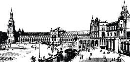 Vinilo de Plaza de España en Sevilla