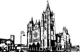 Vinilo Decorativo de la Catedral de León