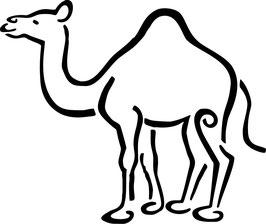 Camello pegatina 06