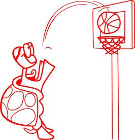Tortuga jugadora de baloncesto