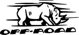 Rinoceronte Off Road Pegatina