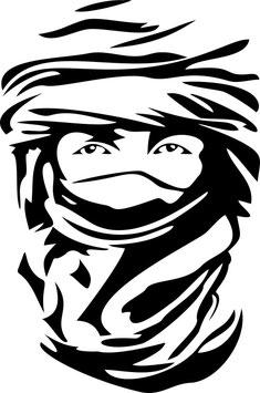 Mirada Tuareg pegatina