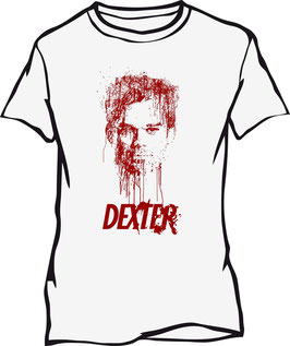 Camiseta Dexter. Gotas de sangre