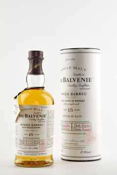 BALVENIE 15 YEARS SINGLE BARREL 70cl / 47,8%