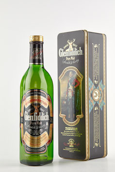 GLENFIDDICH Pure Malt Bot. 90s 70cl / 40% Clan Sinclair Box