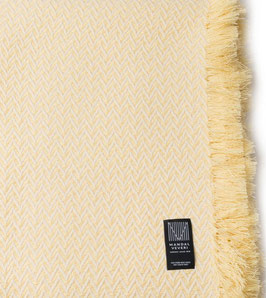 The Yellow Bunad Blanket by Fram Oslo in 100% Pure New Wool