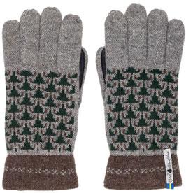 Leather Skogen Touch Glove in 100% Merino Wool by Ojbro