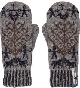 Yggdrasil Liv 100% Merino Wool Mittens by Öjbro