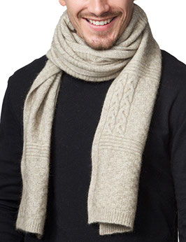 Possumdown Soft Lightweight Cable Merino Wool Scarf