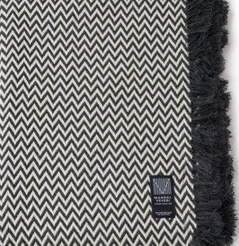 The Dark Grey Bunad Blanket by Fram Oslo in 100% Pure New Wool