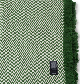 The Green Bunad Blanket by Fram Oslo in 100% Pure New Wool