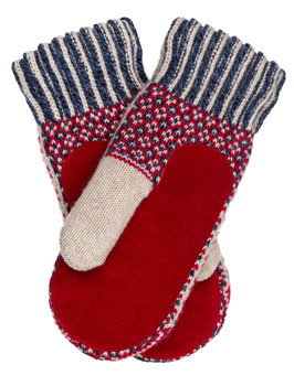 Suede Palm Lycksele Mitten in 100% Merino Wool by Ojbro