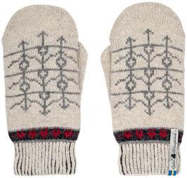 Ekshärad Kalk 100% Merino Wool Mittens by Öjbro