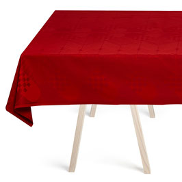 The Deep Red Christmas Tablecloth by Georg Jensen Damask in 100% Egyptian Cotton