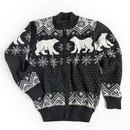 Vrikke Men's Polar Bear Wool Cardigan Sweater