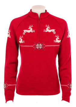 Norlender Women's Reindeer Pullover Wool Sweater Style 310
