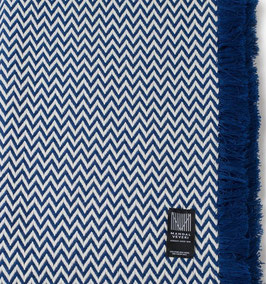The Blue Bunad Blanket by Fram Oslo in 100% Pure New Wool