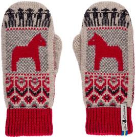 Dalarna Dala Horse 100% Merino Wool Mittens by Öjbro