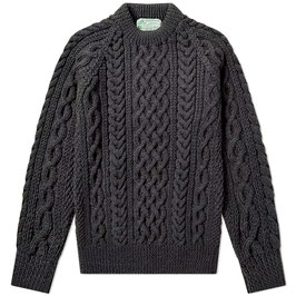 Strathtay BFL Hand-Knit  Crew Neck Pullover 100% Scottish BFL Sheep Wool Sweater