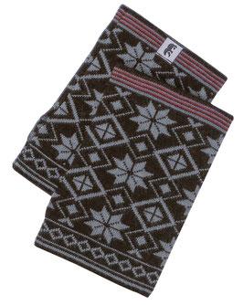Norlender 100% Merino Wool Snow Crystal Wrist Warmers