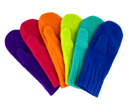 Dachstein Wool Neon Mittens - in Many Colors