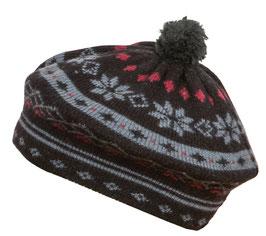 Norlender 100% Merino Wool Snow Crystal Beret