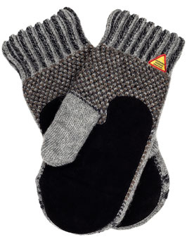 Suede Palm Yggdrasil Liv Mitten in 100% Merino Wool by Ojbro