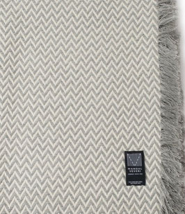 The Light Grey Bunad Blanket by Fram Oslo in 100% Pure New Wool