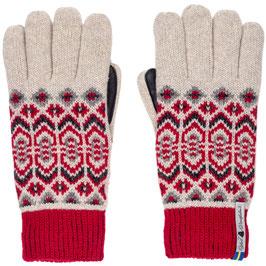 Leather Dalarna Touch Glove in 100% Merino Wool by Ojbro