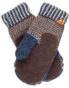 Suede Palm Yggdrasil Livtranad Mitten in 100% Merino Wool by Ojbro