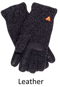 Leather Touch Karg Glove in 100% Merino Wool by Ojbro