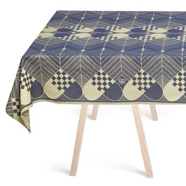 The Blue Gold Christmas Tablecloth by Georg Jensen Damask in 100% Egyptian Cotton