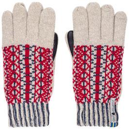 Leather Lycksele Touch Glove in 100% Merino Wool by Ojbro