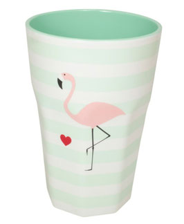 Becher Flamingo