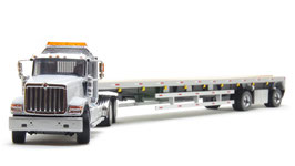 1/50 INTERNATIONAL HX520 with FLATBED TRAILER【71041】