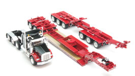 1/64 Kenworth T800 38 Sleeper Cab With Fontaine Magnitude Lowboy Trailer With Bunk