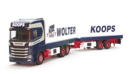 """1/87 Scania CS high roof refrigerated box Trailer """"Wolter Koops"""" (NL)"""
